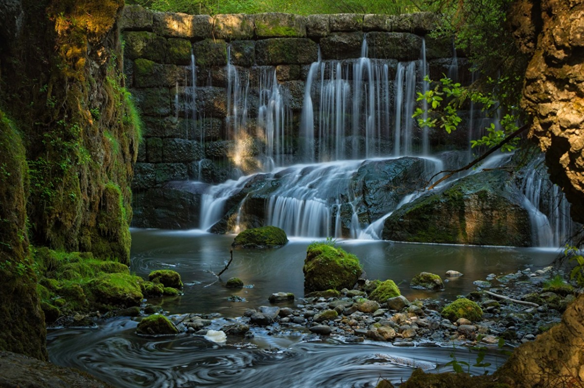 Jigsaw Puzzle Solve jigsaw puzzles online - Waterfall in Bavaria