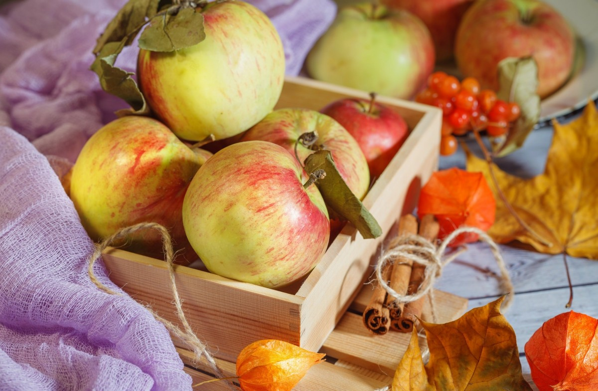 Jigsaw Puzzle Solve jigsaw puzzles online - Apples in a box