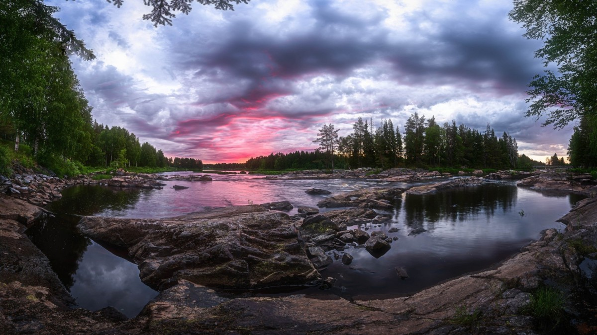 Jigsaw Puzzle Solve jigsaw puzzles online - Sunset in Finland