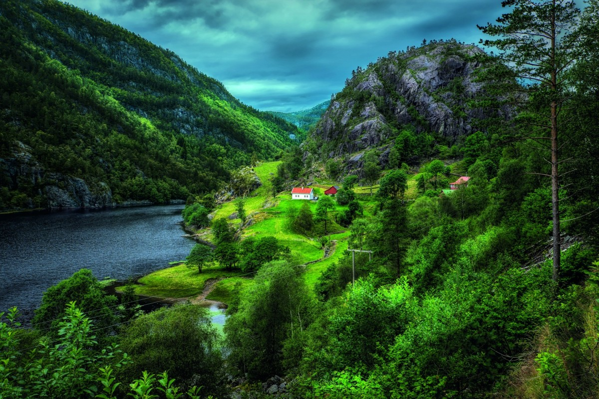 Jigsaw Puzzle Green Norway