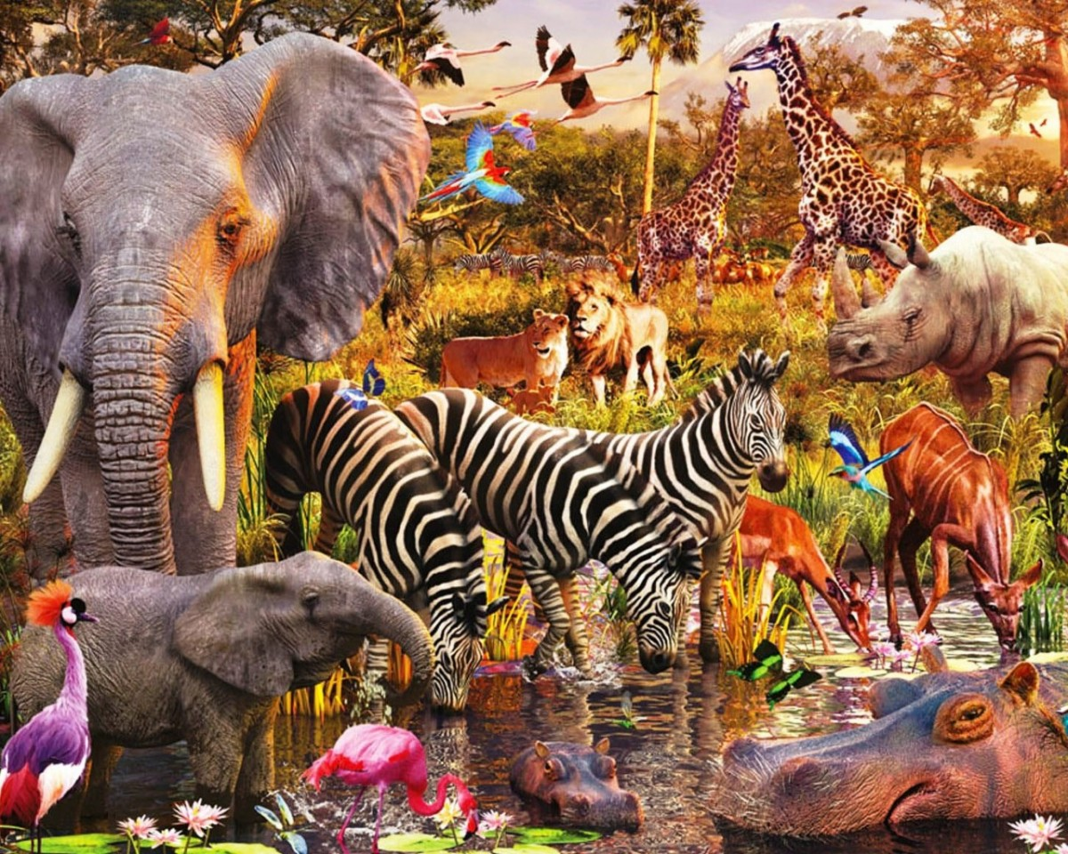 Jigsaw Puzzle Solve jigsaw puzzles online - Animals Of Africa