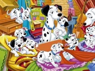 Собирать пазл 101 dalmatian онлайн