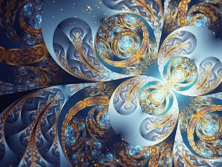Собирать пазл Abstract petals онлайн