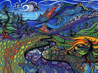 Собирать пазл Abstract landscape онлайн