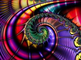 Собирать пазл Abstraktsiya spiral онлайн