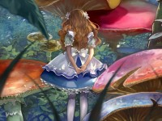 Собирать пазл Alice and mushrooms онлайн