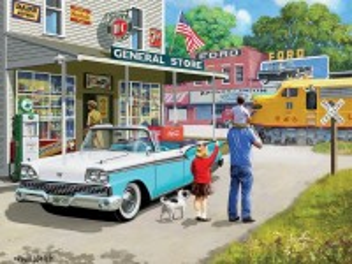 Собирать пазл Gas station онлайн