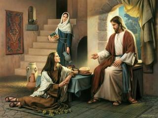 Собирать пазл Talk with Jesus онлайн