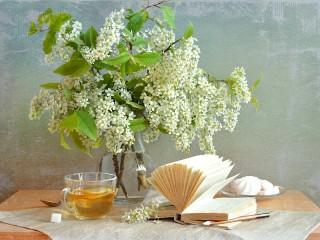 Собирать пазл Bouquet of wild cherry онлайн