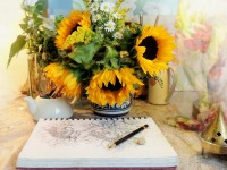 Собирать пазл Bouquet of sunflowers онлайн