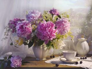 Собирать пазл A bouquet of flowers онлайн