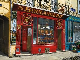 Собирать пазл Bakery in Paris онлайн