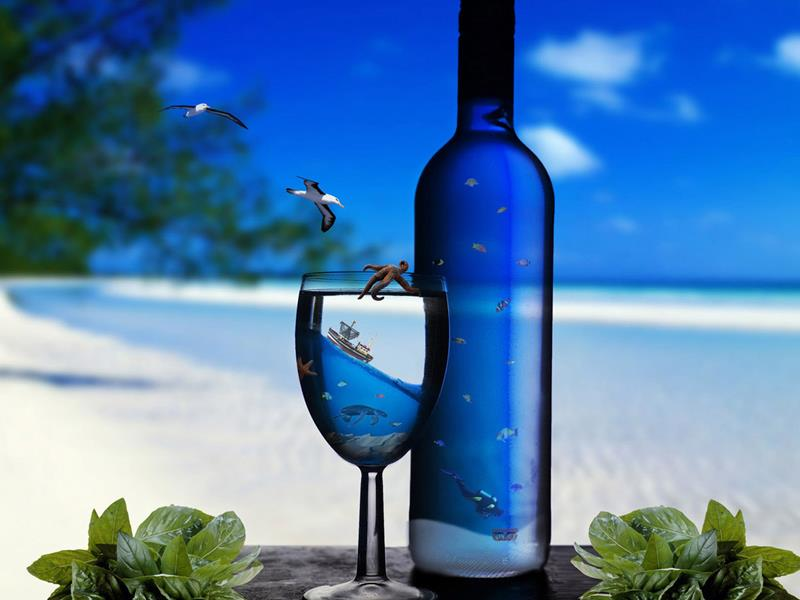 Jigsaw Puzzle Solve jigsaw puzzles online - Bottle on beach