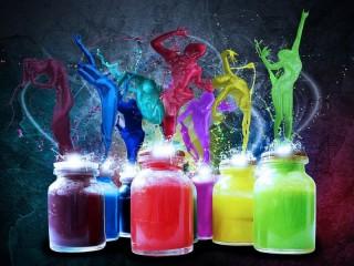 Собирать пазл Rave of colors онлайн
