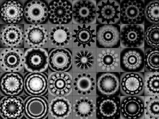 Собирать пазл Black-and-white pattern онлайн