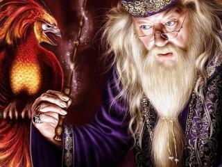 Собирать пазл Dumbledore and Phoenix онлайн