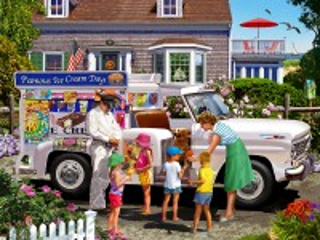 Собирать пазл Ice cream day онлайн