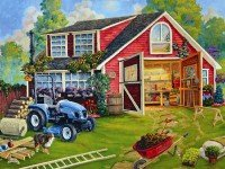 Собирать пазл Country yard онлайн