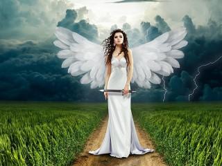 Собирать пазл Devushka angel онлайн