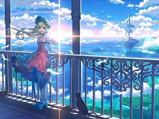 Собирать пазл The girl on the balcony онлайн