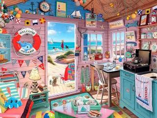 Собирать пазл House on the beach онлайн