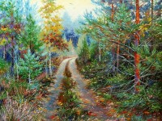 Собирать пазл The road in the woods онлайн