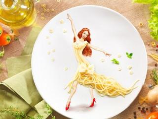 Собирать пазл Food and art онлайн