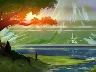 Собирать пазл The elven city онлайн