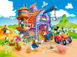 Собирать пазл Mickey Mouse farm онлайн