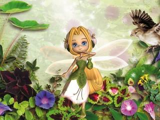 Собирать пазл Flower fairy онлайн
