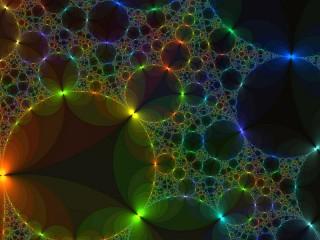 Собирать пазл Fractal circles онлайн