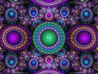 Собирать пазл Fraktal s krugami онлайн