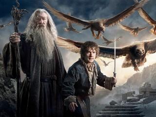 Собирать пазл Gandalf and Bilbo онлайн