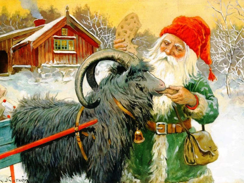 Jigsaw Puzzle Solve jigsaw puzzles online - Dwarf and goat