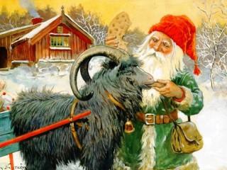 Собирать пазл Dwarf and goat онлайн