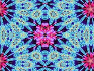 Собирать пазл Blue and pink онлайн