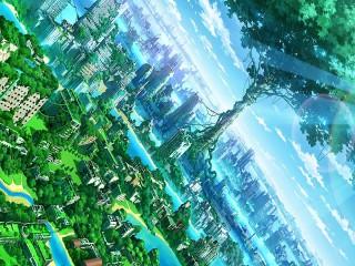 Собирать пазл City in green онлайн