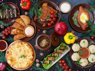 Собирать пазл Georgian cuisine онлайн