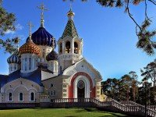 Собирать пазл Cathedral in Peredelkino town онлайн
