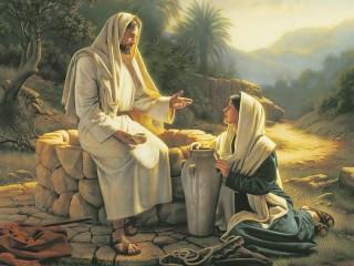 Собирать пазл Jesus and girl онлайн