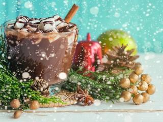 Собирать пазл Cocoa in the snow онлайн