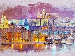Собирать пазл The Picture Is Of Prague онлайн