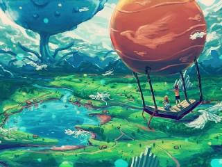 Собирать пазл Book-balloon онлайн