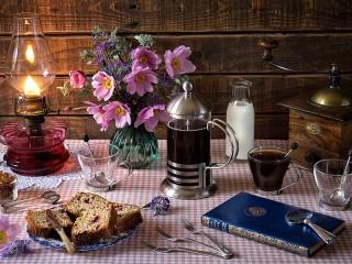 Собирать пазл Kofe na zavtrak онлайн