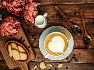 Собирать пазл HeartShaped Coffee онлайн