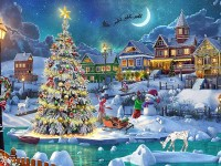 Собирать пазл Beautiful Christmas tree онлайн