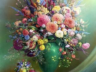 Собирать пазл Lace flowers онлайн