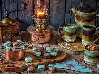Собирать пазл Lampa i pechene онлайн