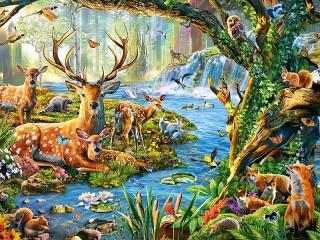 Собирать пазл Forest life онлайн