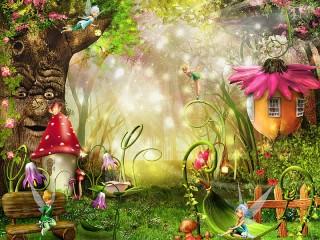 Собирать пазл Forest fairies онлайн